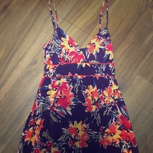 Beautiful forever 21 plum floral dress